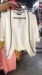 [Hàng Xịn] Áo khoác len nữ form ngắn phối sọc. Áo khoác len nhẹ. Áo khoác Cadigan [HÀNG NHẬP] thumbnail