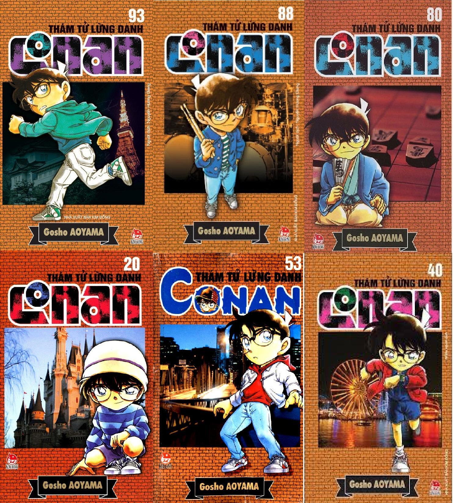 Mua Combo 5 quyển truyện Conan - được chọn tập