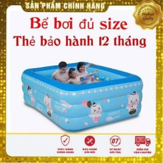 Bể Bơi Phao Cho Bé 3 Tầng Đủ Tất Cả Kích Cỡ Có Đế Chống Trượt 1.2M thumbnail