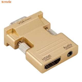 Bộ Chuyển Đổi HDMI Cái Sang VGA Đực W/Cáp Âm Thanh Hỗ Trợ 1080P Đầu Ra Tín Hiệu (Thương Hiệu Lazmall/Giá Thấp/Chất Lượng Cao)