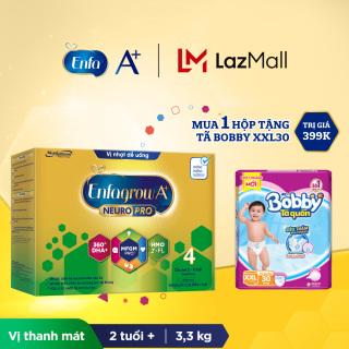 Bộ 1 hộp Sữa bột Enfagrow A+ Neuropro 4 với 2 -FL HMO cho trẻ từ 2 6 tuổi 3.3kg - Tặng 1 gói tã Bobby XXL30 thumbnail