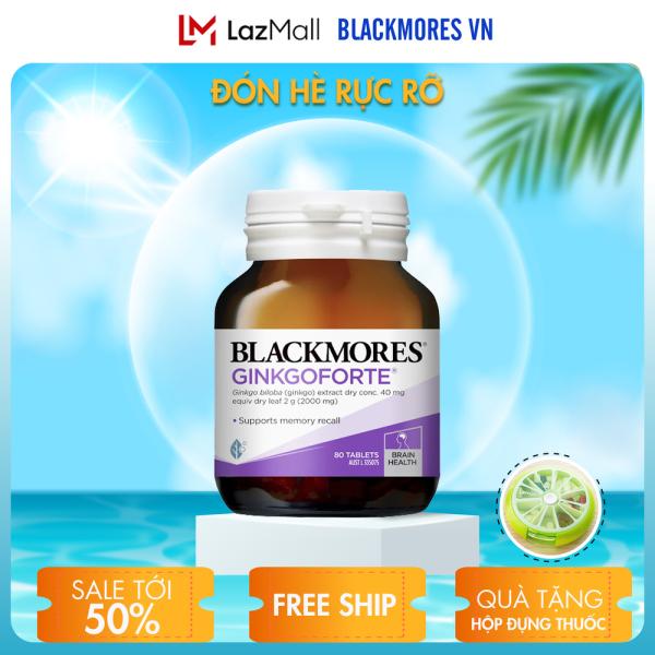 Blackmores Ginkgoforte 80v - Viên uống bổ não, tăng cường trí nhớ Blackmore úc nhập khẩu
