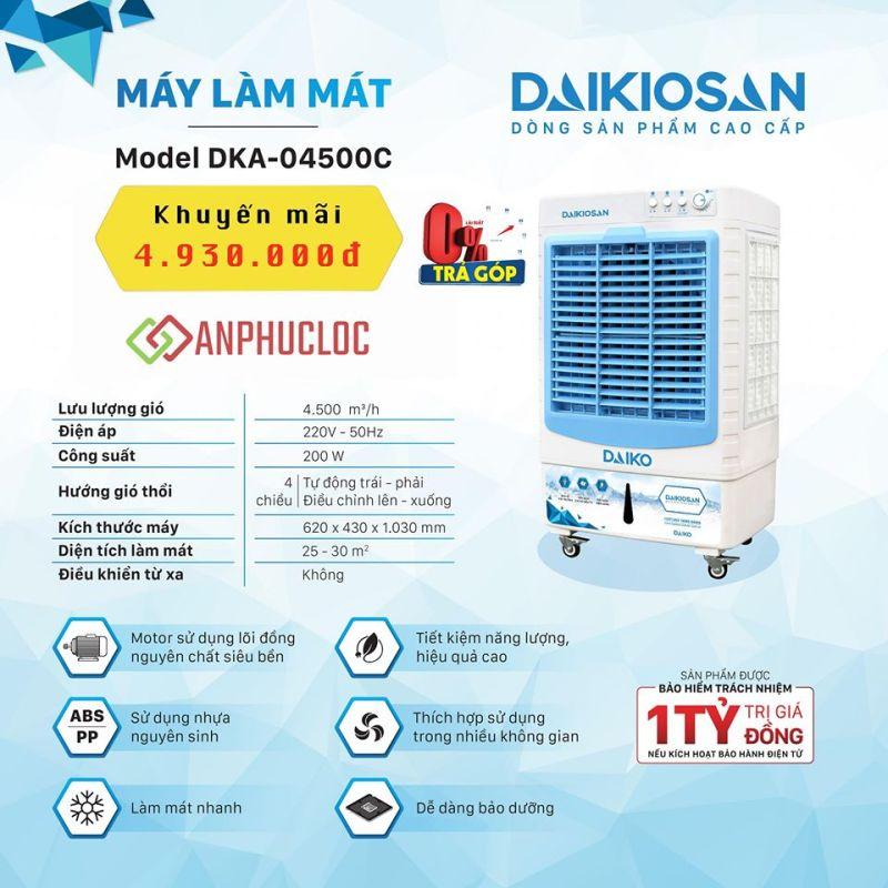 Máy làm mát Daikiosan DKA-04500C