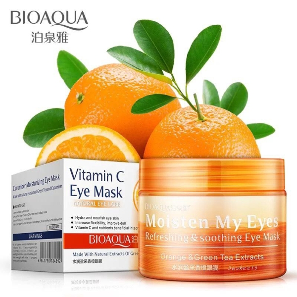 Mặt Nạ Mắt Bioaqua Vitamin C Eye Mask Natural Eye Care