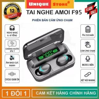 Tai Nghe Bluetooth AMOI F95 Phiên Bản Pro Quốc Tế Nâng Cấp, Pin Siêu Trâu Dock Sạc 3500 mAh- Tai nghe bluetooth pin trâu - Tai nghe nhét tai không dây bluetooth, Tai nghe bluetooth mini - Tai nghe i7s, i9s, i11s, Amoi f9 thumbnail