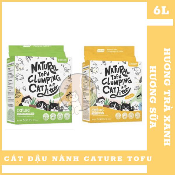 (SIÊU AN TOÀN) Cát vệ sinh Cature Tofu Soya 5.5L - Green Tea - Milk Chính Hãng