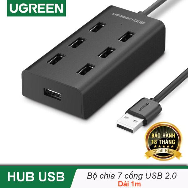 Bảng giá Bộ chia USB 2.0 ra 7 cổng, hỗ trợ mở rộng cổng USB 2.0 cho máy tính, laptop, dài 1m UGREEN CR133 30374 Phong Vũ