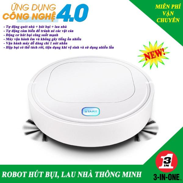 [Hàng Xịn] Robot Hút Bụi, Robot Lau Nhà, Máy Hút Bụi Thông Minh, Robot Hut Bui - Hút sạch Cát, Bụi, Lông Chó, Mèo, Tóc rụng, Giấy - Chống Rơi - Pin Trâu, Lau nhà sạch tinh. Giá giảm đến 50%, BH 1 đổi 1 - MUA NGAY!