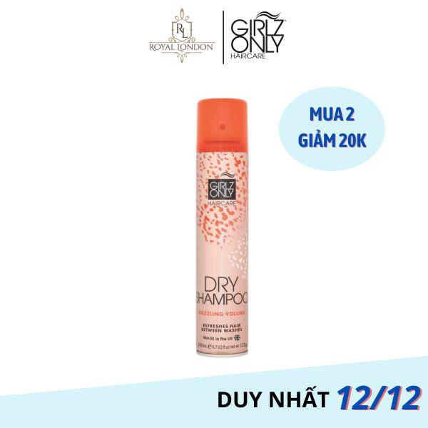 Dầu Gội Khô Girlz Only Dazzling Volume 200ML