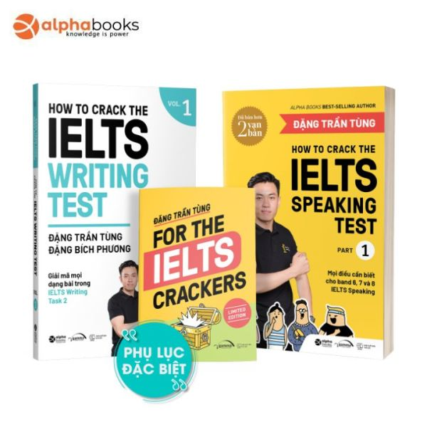 Mua Sách - Bộ Sách How To Crack The Ielts Speaking + Writing Test - Vol1 (Bộ 2 Cuốn)