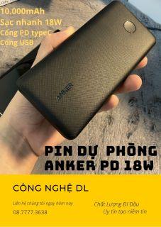 Chính Hãng (Video Thật 100%) Pin Sạc Dự phòng Anker PowerCore Slim 10000mAh B2B A1229 thumbnail