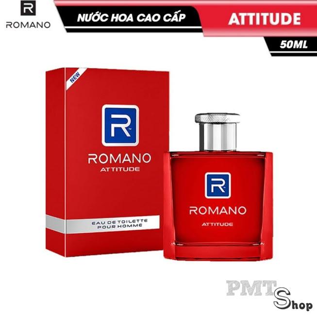 Nước hoa cao cấp Romano Attitude nồng ấm cá tính hương nam tính 50ml