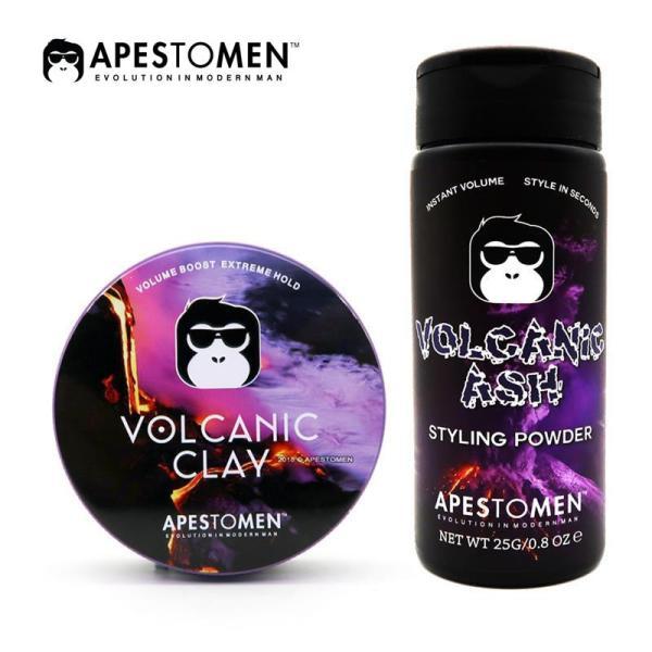 Combo Sáp Apestomen Volcanic Clay và Bột Tạo Phồng Volcanic Ash
