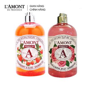 Combo Sữa tắm Rose (hoa hồng) 500ml và Sữa Tắm Strawberry (dâu tây) 500ml - L amont En Provence thumbnail