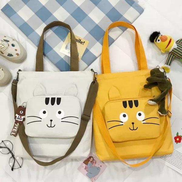 Túi Tote Thời Trang Đeo 2 Kiểu Mẫu Mới Siêu Kute Mèo 3 Giá