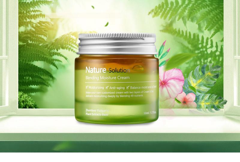 Kem dưỡng ẩm làn da The Plant Base Nature Solution Blending Moisture Cream 50ml giá rẻ