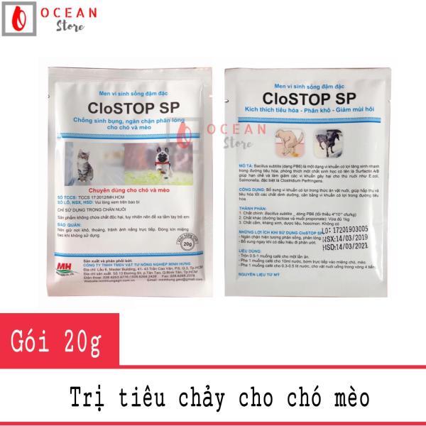 Men vi sinh sống đặc trị tiêu chảy, kích thích tiêu hóa cho chó mèo - CloSTOP SP (gói 20g)
