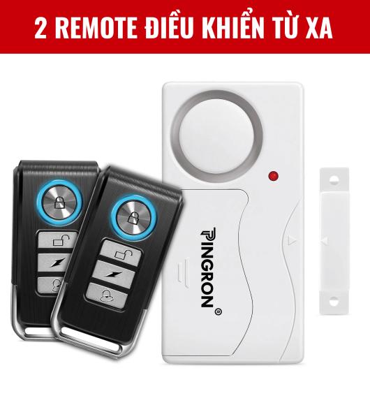 Thiết Bị Chống Trộm Gắn Cửa 2 Remote, Cảm Biến Chống Trộm, Chuông Chống Trộm Gắn Cửa Thông Minh, Báo Chống Trộm Gắn Cửa PINGRON PR-C03-2D