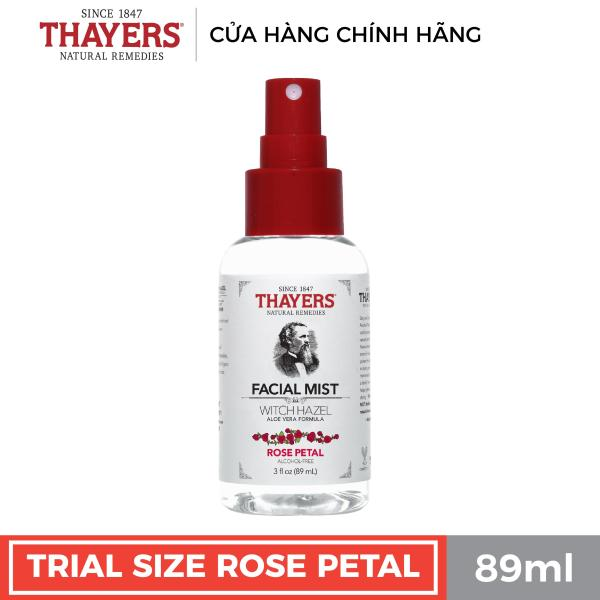 Nước hoa hồng không cồn THAYERS - Hương hoa hồng - Dạng xịt 89ml tốt nhất