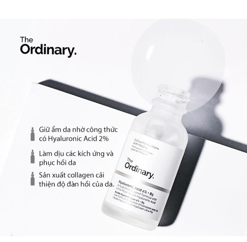 The Ordinary Hyaluronic Acid 10% + B5 Serum dưỡng ẩm chuyên sâu giúp da căng mọng Moisturizing Skin Care Firming Serum 30ml giá rẻ