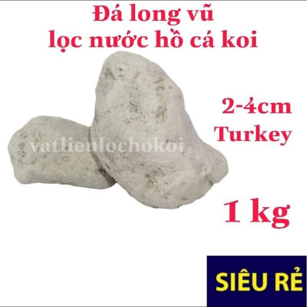 1kg nham thạch trắng- đá lông vũ TURKEY 2-4cm vật liệu lọc hồ cá