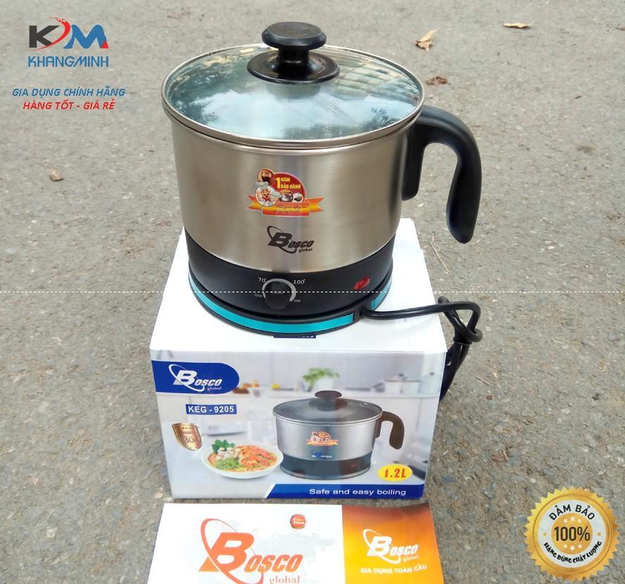Ca nấu mì siêu bền inox 304 BoscoGlobal  KEG 9205 Bảo Hành 12 Tháng
