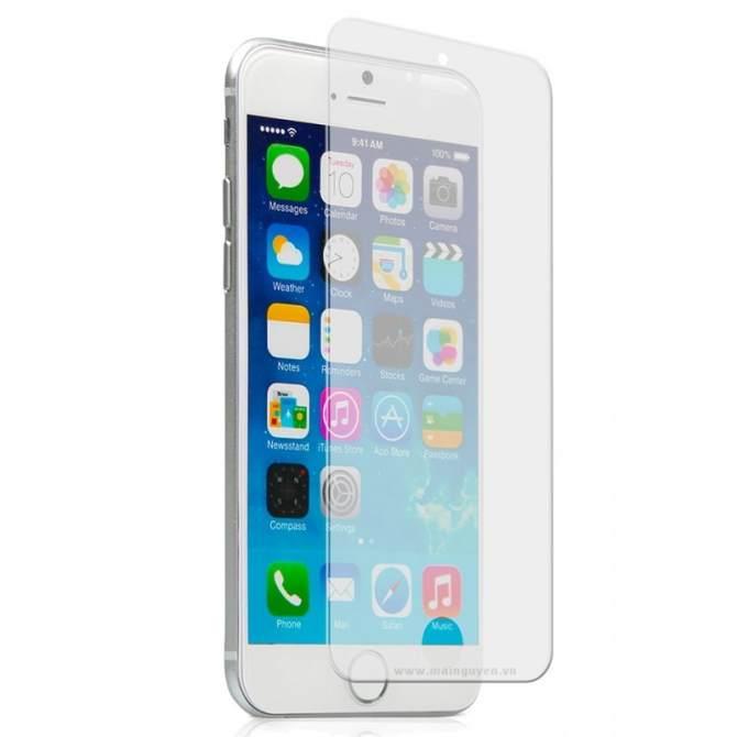 Hình ảnh Combo Kính cường lực và ốp dẻo silicon Iphone 6 ( trong suốt)