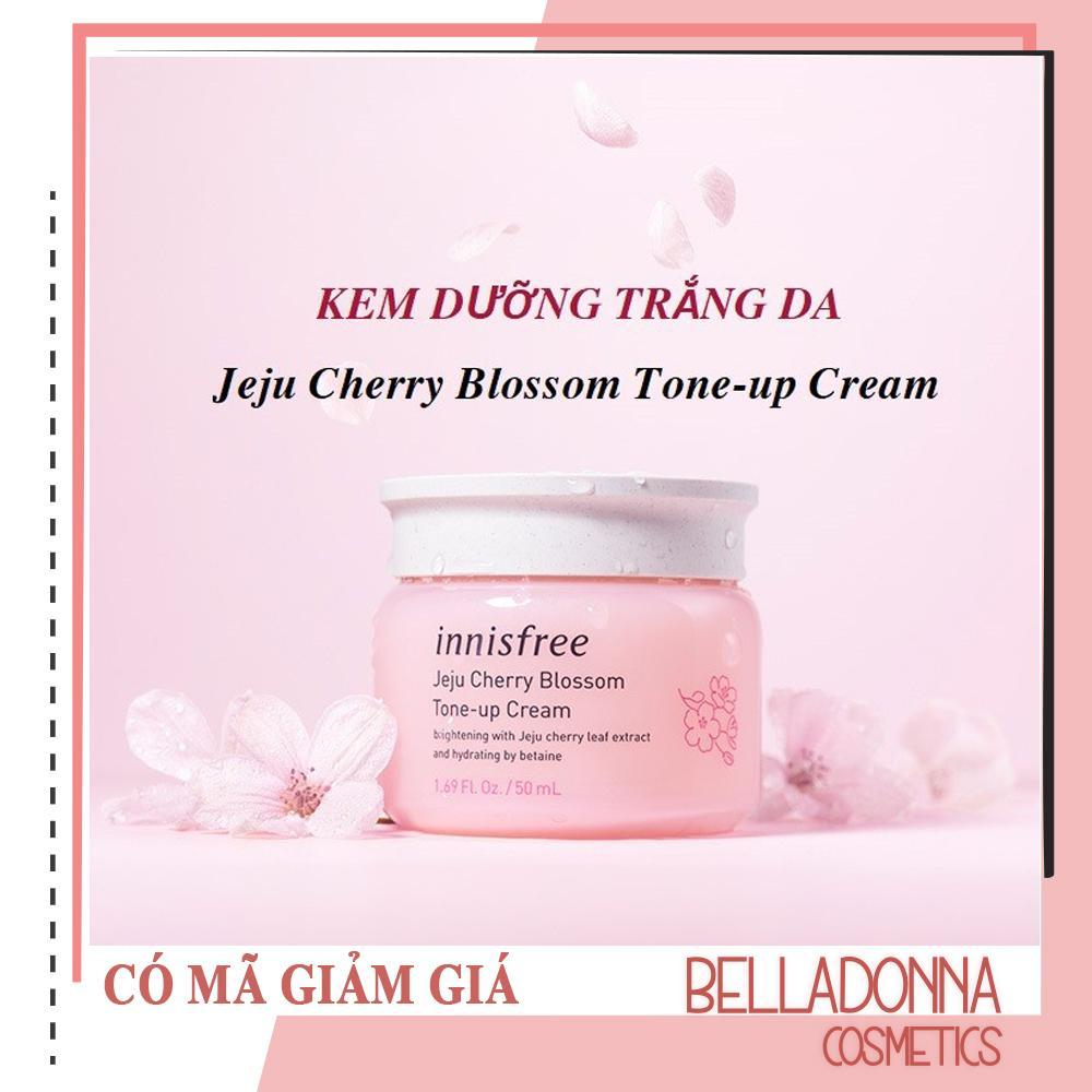 Kem Dưỡng Trắng Da Nâng Tone Tức Thì Innisfree Jeju Cherry Blossom Tone-Up Cream 50ml