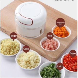 [LOẠI TỐT] Dụng cụ xay tỏi ớt cầm tay đa năng thế hệ mới, Xay tỏi ớt kéo tay mẫu mới Mini Food Chopper -Máy xay tỏi ớt kéo tay - Dụng cụ băm rau củ quả,Dụng Cụ Hỗ Trợ Nấu An Tiện Ích thumbnail