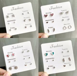 Set Khuyên Tai 6 Món - Khuyên Tai Nữ Hot Nhất B2311 Bảo Ngọc Jewelry thumbnail