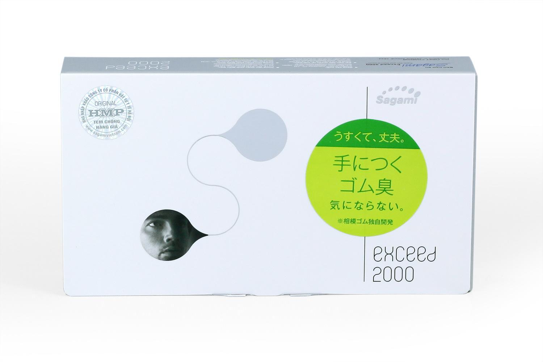 Bao cao su Sagami Exceed 2000 siêu mỏng ( hộp 12 chiếc)