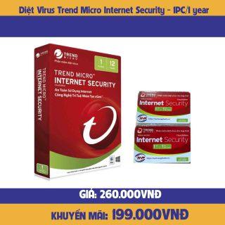 Phần mềm diệt Virus Trend Micro Internet Security - 1PC 1YEAR-hàng chính hãng thumbnail