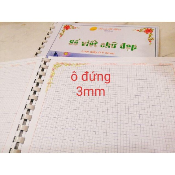 Mua Vở nhật ký, vở viết chữ đẹp Hà Thanh 3mm, 4mm ô ly to (100 trang, khổ A4)