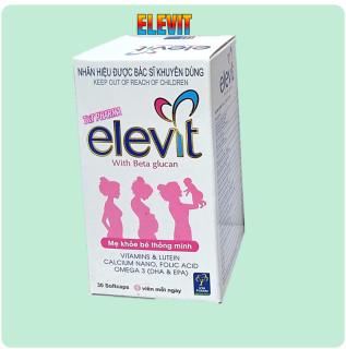 Viên Uống Elevit Bổ Sung DHA,EPA,Acid folic - Giúp phát triển hệ thần kinh và thị giác ở trẻ, giảm triệu chứng ốm nghén cho mẹ thumbnail