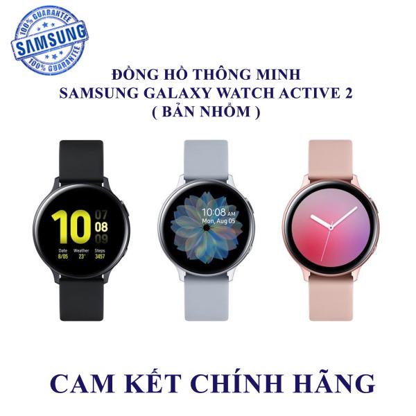 Đồng hồ thông minh Samsung Galaxy Watch Active 2 - Hàng chính hãng ( Bản nhôm Dây Silicon)