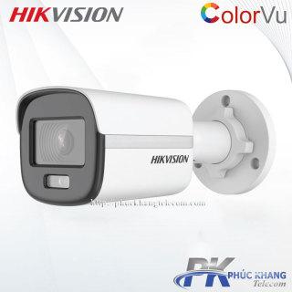 Camera ip thân 2.0MP ColorVu Hikvision DS-2CD1027G0-L có màu 24 24 ,hỗ trợ chức năng cấp nguồn qua Ethernet PoE thumbnail