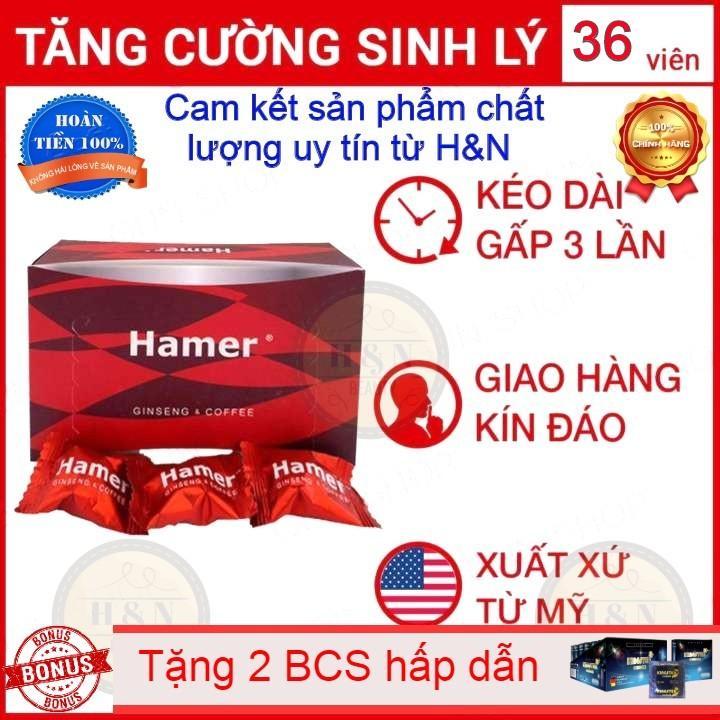 [Giá Sỉ] - Hộp 36 Viên Kẹo Sâm Malaysia Hamer - Kéo Dài Thời Gian Quan Hệ Cải Thiện Ham Muốn Sức Khỏe Nam Giới