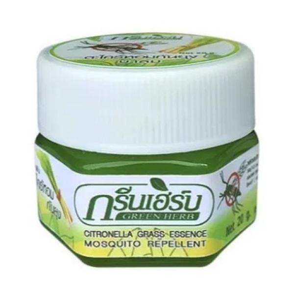 [HCM][Date 2023] 01 Cao Thoa Chống Muỗi & Côn Trùng Đốt (Sả & Thảo Dược) Green Herb Thái Lan 20gram [Lưu Mã Free Ship] giá rẻ