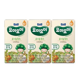 Lốc 3 hộp nước ép trái cây hữu cơ Yummy Yummy nhập khẩu Hàn Quốc Vị Rau củ quả cho bé từ 6M thumbnail