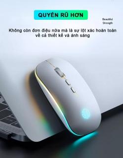 [FreeShip+Quà 20k]Chuột không dây TCOM M1L, wireless sạc Pin, có đèn led dùng cho máy tính bàn, máy tính xách tay (Laptop), tặng quà miếng lót chuột 20K thumbnail