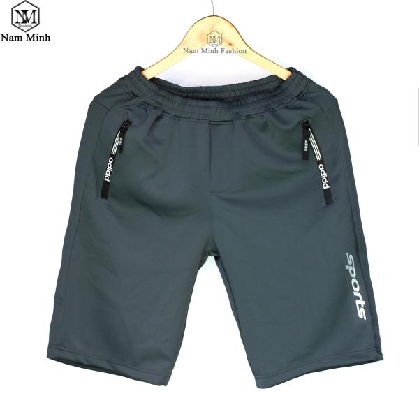 [video thật] Quần Short Nam, Quần thể thao, Vải co giản, túi khóa dây kéo da