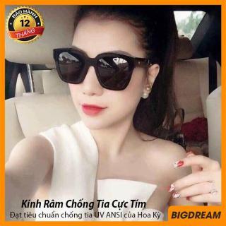 Kính mát thời trang nữ cao cấp siêu sang chảnh - Mắt kính nữ chống tia UV (Đen) thumbnail