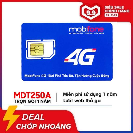 [HCM]Sim 4G Mobifone MDT250A Trọn Gói 1 Năm Không Phải Nạp Tiền Lướt Web Tẹt Ga Ltmart Tốc Độ Truy Cập Nhanh