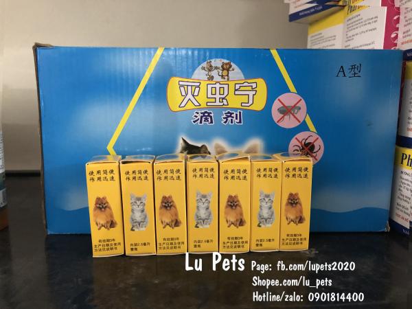 Dung Dịch Nhỏ Gáy Ngừa Ve Cho Chó Mèo