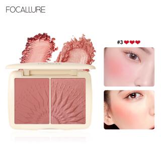 Hộp phấn má hồng và phấn bắt sáng 2 trong 1 FOCALLURE dạng bột mềm mịn lâu trôi giúp làm sáng nổi bật khuôn mặt - INTL thumbnail