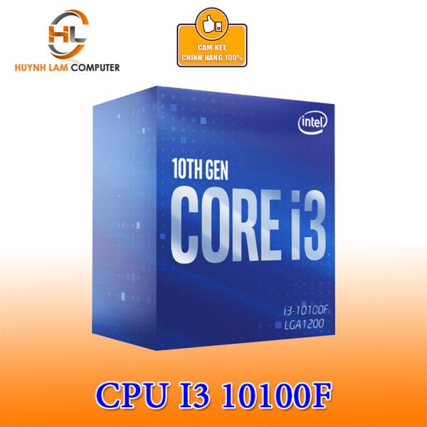 Bảng giá CPU Intel Core i3 10100F 3.6GHz up to 4.3GHz, 4 nhân 8 luồng socket 1200 Chính hãng Viễn Sơn phân phối (không có GPU) Phong Vũ