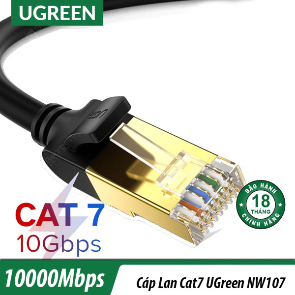 Bảng giá Dây Lan Cat7 10Gbps Tròn Dài 1.5M UGreen 11277- Đầu Đúc Kim Loại Phong Vũ