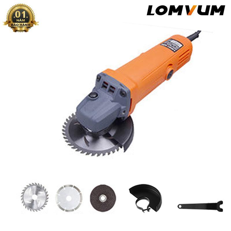 Máy mài Lomvum 1200w máy mài cầm tay - máy mài điện kèm lưỡi cắt gỗ, cắt sắt, lưỡi mài Tặng 03 lưỡi tiện dụng