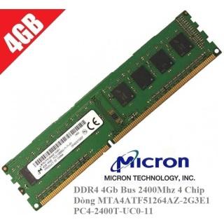 254 Ram PC Máy tính để bàn Micron DDR4 4Gb Bus 2400Mhz 4 Chip Dòng MTA4ATF51264AZ-2G3E1 PC4-2400T-UC0-11 thumbnail