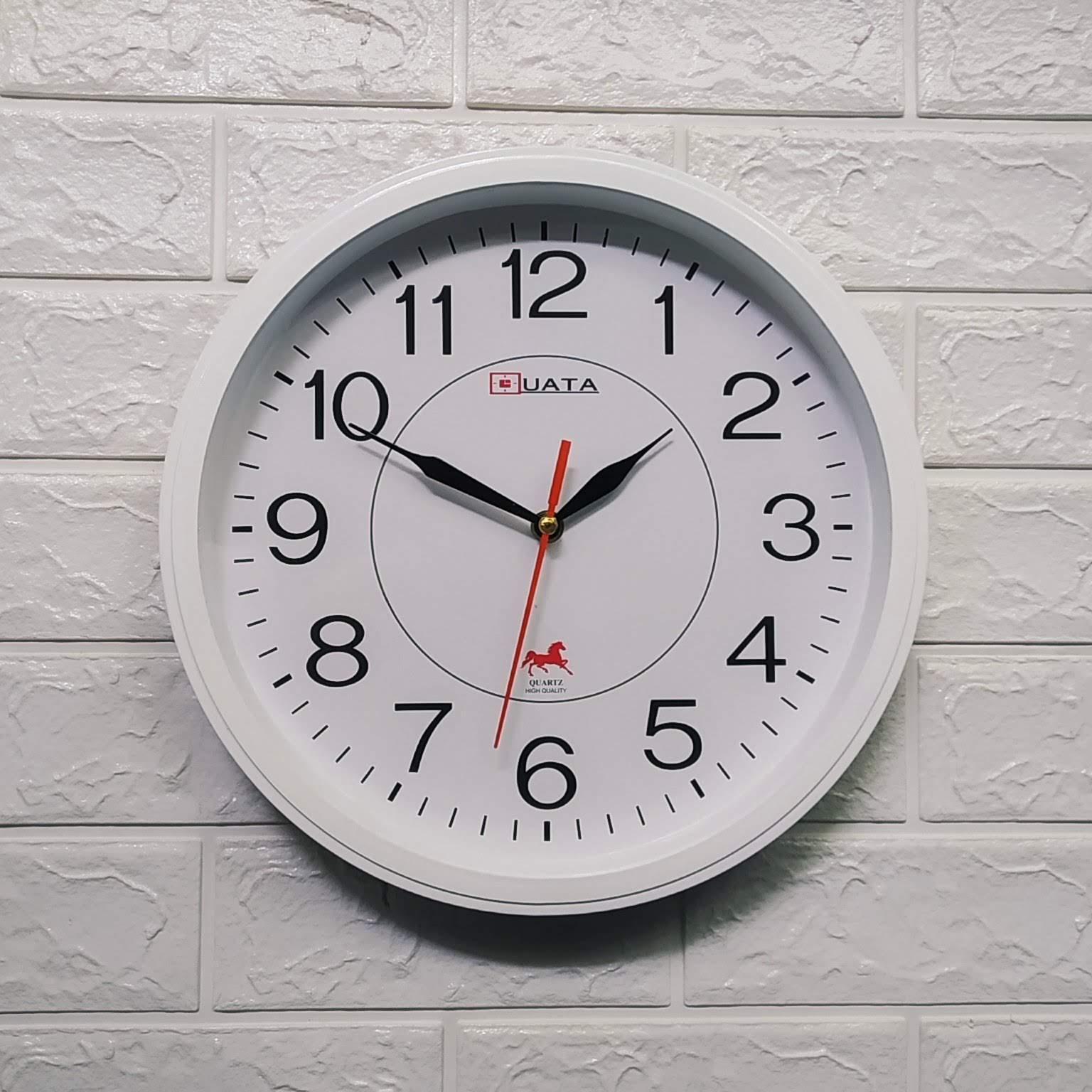 Nơi bán Kim trôi - Đồng hồ treo tường hình tròn viền trăng - Size 30cm -  Đồng hồ treo tường kim trôi